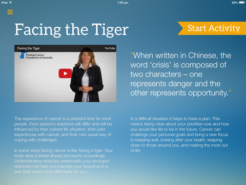 Facing The Tiger App Shot