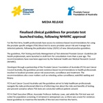 PSA Testing Guidelines - Media Release