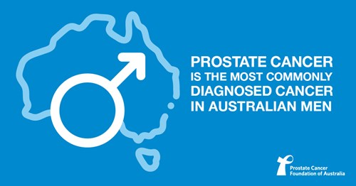 Prostate cancer is the most commonly diagnosed cancer in Australian men